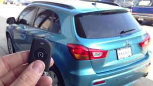 mitsubishi outlander sport 2012 2012 mitsubishi outlander sport remote start youtube