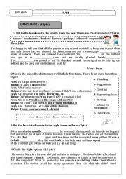 test 1 7th form esl worksheets of the day pinterest