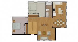 2d floorplan rendering with doorswing showing