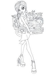 free printable monster high coloring pages 2013