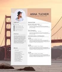 contemporary resume template creative cv template modern resume best 25 ideas on design