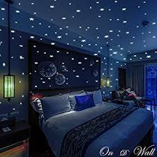glow in the dark bedroom amazon com extsud moon wall stickers for kids merry christmas