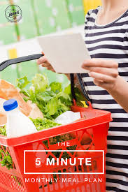 how to make a monthly meal plan in 5 minutes