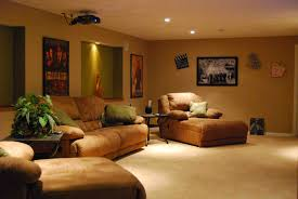 Home Theater Room Decorating Ideas Awesome White Brown Wood Glass Unique Design Modern Living Room