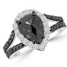 black fashion rings images 3 20ct rose pear cut black diamond engagement halo ring jpg