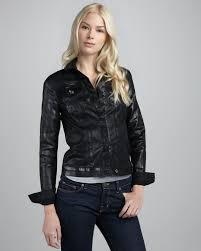 all black motorcycle jacket 7 for all mankind black lacquer motorcycle jacket in black lyst
