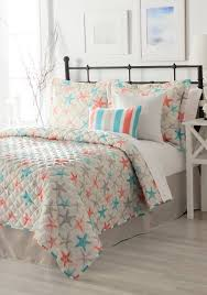 Eastern Accents Bedset Home Accents Turnstyles Starfish Reversible 6 Piece Quilt Set Belk
