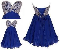 short royal blue homecoming dress applique bead chiffon prom