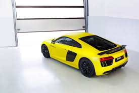wrapped r8 audi r8 v10 plus wrapped in sunflower matte metallic looks damn