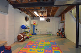 Partially Finished Basement Ideas Partially Finished Basement Play Room Rmrwoods House Partially
