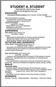high school resume template for college application exle resume for high school students for college applications