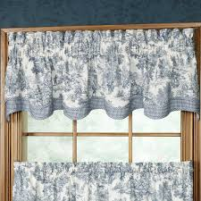 Toile Cafe Curtains Park Toile Window Treatments