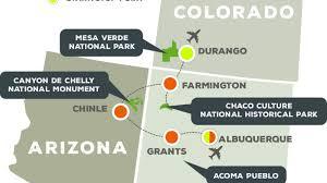 Mesa Verde Map Puebloan Mystery Mesa Verde Chaco Canyon And Canyon De Chelly