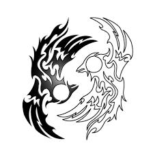 phoenix yin yang tribal v1 1 by kuroakai on deviantart