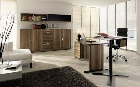 modern interior home office layout design square wall shelves unit