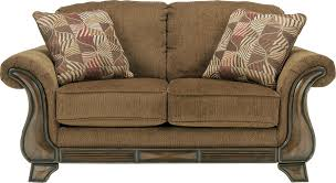 sofas and loveseats montgomery mocha loveseat by ashley furniture