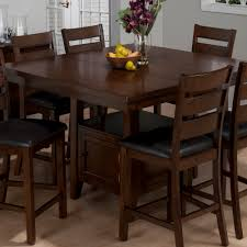 bar height dining room sets jofran 337 54 taylor 7 piece butterfly leaf counter height table