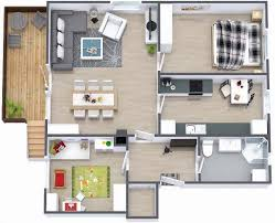 Floor Plans For Small Houses With 3 Bedrooms Two Bedroom Small House Plans Under 1000 Sq Ft 3d Designs With