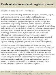 Resume Format For Assistant Professor Job by Top 8 Academic Registrar Resume Samples