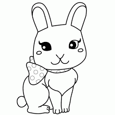 rabbits coloring pages spring bunny picture of child rabbit