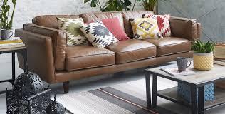 canapé cuir pour un salon bohème salon décoration intérieur alinéa