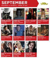 amazon black friday calendar 2017 tv calendar for the week of september 4 u003c u003c rotten tomatoes u2013 movie