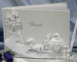 wedding registry books cinderella carriage and castle wedding guest registry book