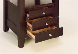 Camden Amish Kitchen Table With Storage Drawers - Kitchen table with drawer