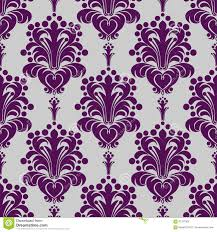 Purple Damask Wallpaper by Seamless Damask Wallpaper Violet Ornament On Grey Stock Vector