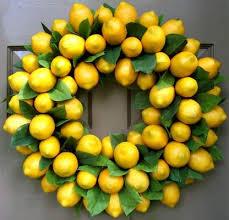 lemon wreath creative decorations by ridgewood designs 39750 on