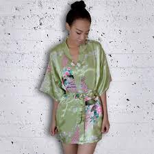 bride gift kimono robes bridesmaids light sage green bridesmaid