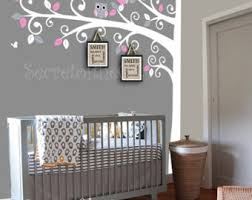 White Tree Wall Decal Nursery Decals For Baby Room Walls Nursery Tree Wall Decal With Decals