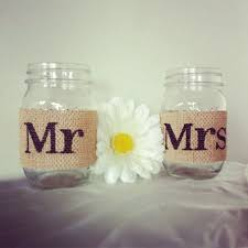 jar wedding decorations burlap mr and mrs jar set burlap wedding decorations