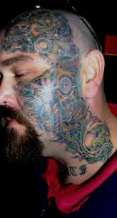 biomechanical tattoo face pic 999 full color biomech face tattoo design