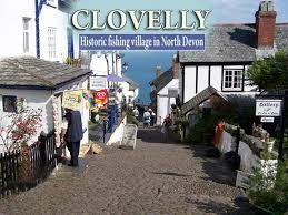 map uk villages clovelly