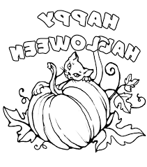 halloween color pictures coloring pages kids