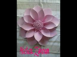 Paper Flowers Video - how to make a connected petals paper flower how to make paper
