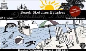 beach sketch brushes photoshop brushes in photoshop brushes abr
