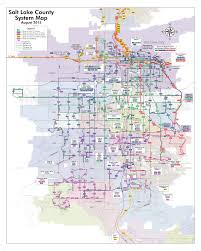 Salt Lake City Zip Code Map by Uta Bus Map My Blog