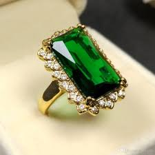 green cocktail 2018 delicate pave big faceted emerald green cocktail rings in