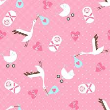 seamless baby shower pattern on pink background u2014 stock vector