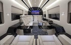 mercedes inside inside the 400k mercedes jet of vans with reclining