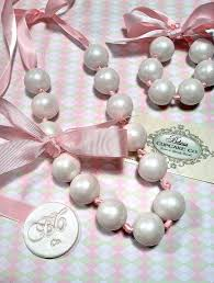 gumball party favors edible gumball necklace couture pearls these shabby chic s are