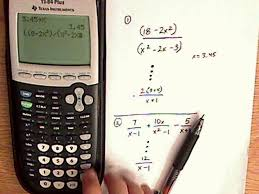 algebra rational expressions ti 84 examples youtube
