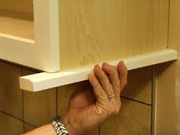 How To Hang Kitchen Cabinet Doors How To Install A Kitchen Cabinet Light Rail How Tos Diy