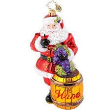 christopher radko sommelier santa ornament
