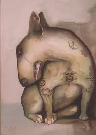 terrier tattoo tattooed english bull terrier by homelyvillain on deviantart