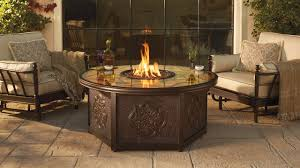 patio ideas propane fire pit table in the round table