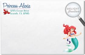 princess ariel little mermaid birthday invitations di 282