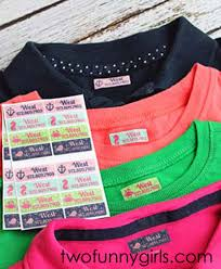 iron clothing custom personalized iron on or peel and stick adhesive clothing labels